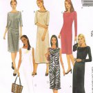 MCCALLS #2892 Uncut Sz 8-12 Semi-fit Dress w/ Bateau Neckline & Hem Variations Sewing Pattern