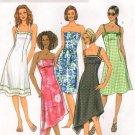 BUTTERICK #4183 Uncut Sz 6-10 Strapless, Shoulder Strap or Halter Dresses