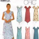 SIMPLICITY #9631 Uncut Sz 8-14 Sleeveless or Short Sleeve Dress; Opt Shaped hem