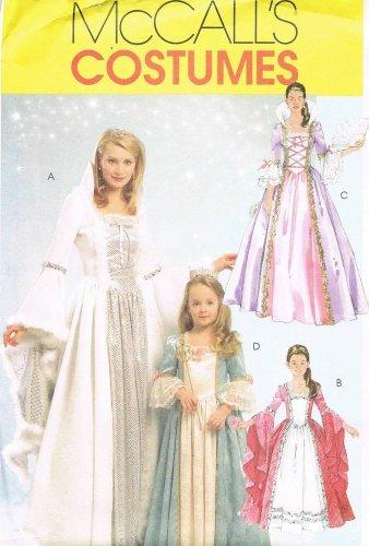 MCCALLS #5731 Uncut Mother & Daughter Medieval Princess Costumes