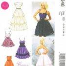 MCCALLS #6646 Uncut Sz 18W-24W Dresses Close-fit Bodice; Skirt Variations