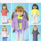 "BUTTERICK #4089 Uncut Jacket, Top, Pants, Capris & Dress 18"" Doll Clothes"