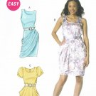 MCCALLS #6321 Uncut Sz 8-14 Semi-fit Dresses w/Drape; Short Sleeve or Sleeveless
