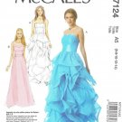MCALLS #7124 Sz 6-14 Long Evening or Prom Dresses With or Without Flounces