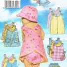 BUTTERICK #5625 Uncut Infants Romper& Jumper w/Buttoned Shoulder, Panties & Hat