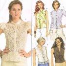 BUTTERICK #4801 Uncut Sz 8-14 Tops w/Stand-up Collar; 3 Sleeve Lengths