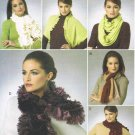 VOGUE #8702 Uncut Ruffled or Unruffled Scarves; 5 Styles