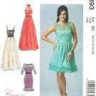 MCALLS #6893 Uncut Sz 8-16 Dresses w/Close-fit Bodice; Neckline & hem variations
