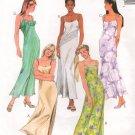 MCCALLS #9273 Uncut Sz 8-12 Scoop Neck Dress w/Straps; Optional overlay