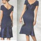 VOGUE #1196 Uncut Sz 6-12 Bellville Sassoon Semi-fit, Mid-Calf Length Dress