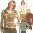 BUTTERICK #4864 Uncut Sz 6-12 Long Sleeve Yoked Jacket w/Collar; Optional Peplum