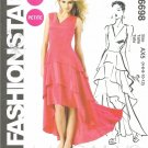 MCCALLS #6698 Uncut Sz 4-12 Close-fit Dress w/Shaped Hem & Flounces