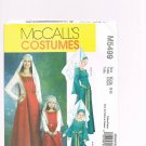 MCCALLS #5499 Uncut Mother & Daughter Medieval Princess Costumes - 2 Patterns