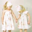 MCCALLS #6529 Uncut Child Sz 1-4 Dresses, Top, Shorts, Headbands & Kerchiefs