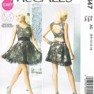MCCALLS #6647 Uncut Sz 6-14 Pullover Dress w/Keyhole Openings; Short Skirt