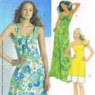MCCALLS #6071 Uncut Sz 4-12 Summer Dress w/Shoulder Straps in 2-lengths