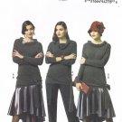 BUTTERICK #5858 Uncut Sz 6-14 Pullover Top, Semi-fit Skirt & Pants