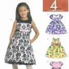 MCCALLS #5793 Uncut Child Sz 2-5 Flared Dress w/ Attached Petticoat Ruffle
