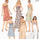 MCCALLS #2752 Uncut Sz 10-12 Easy Fit Summer Dresses; Speg Straps Sewing Pattern