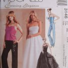 MCCALLS #3146 Uncut Sz 14-18 Elegant Halter Top, Pants & Skirt w/Overlay
