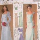 MCCALLS #4298 Uncut Sz 8-14 Bride/Bridemaid 2-Piece Dress; Optional Train