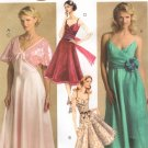 MCCALLS #5045 Uncut Sz 6-12 Flared Dress w/Shoulder Straps, Sash & Shrug