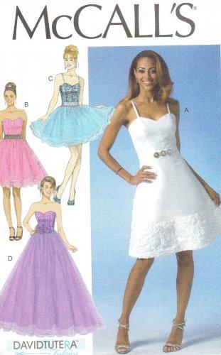 MCCALLS #7049 Uncut Sz 6-14 Close-fit Bodice Dress; Two Lengths