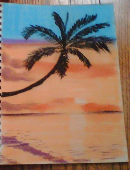 Sunset Beach and Palm tree