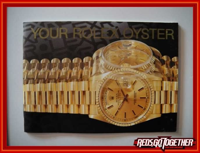 Vintage 1996 ROLEX Your Rolex Oyster English Booklet