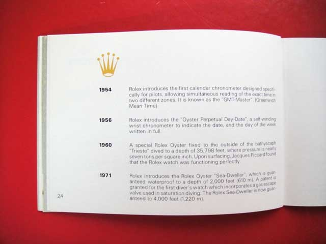 Vintage 1985 ROLEX Your Rolex Oyster English Booklet