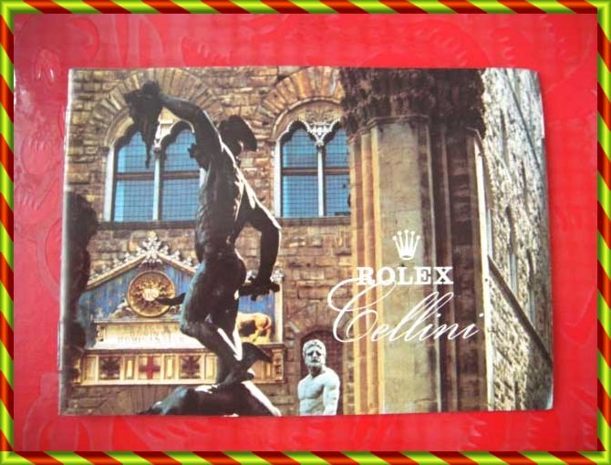 Vintage 1980 ROLEX CELLINI English Booklet