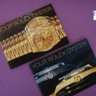 "Genuine Rolex Set 2 : 2 ""YOUR ROLEX OYSTER"" Booklets 1989 ENGLISH MINT CONDITION"