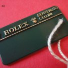 Vintage ROLEX BENVENUTO CELLINI HANG TAG with original string & two crowns RARE