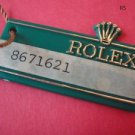 Vintage 70's ROLEX DAY-DATE HANG TAG with original string and big crown RARE !