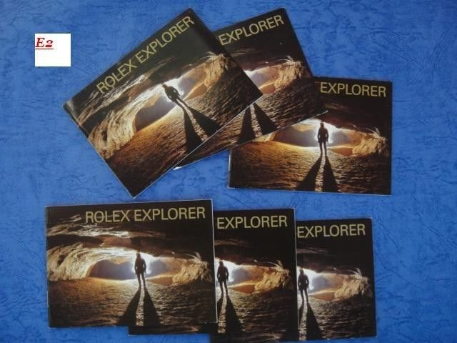 Genuine Rolex Explorer Set 1 :(2002-2007) total 6 English Booklets 114270 16570