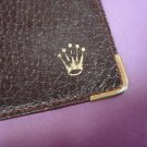 Vintage ROLEX maroon leather wallet card holder 101.70.55 EXPLORER SUBMARINER