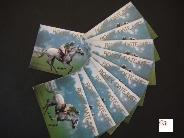 90's Rolex DATEJUST SET : 10 English Booklets 68278 16234 DAYTONA SUBMARINER GMT
