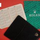 Vintage ROLEX black leather wallet w 1990-91 calendar card  booklet 16600 16660