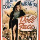 Doll Face (VHS) Vivian Blaine VGC! #2552