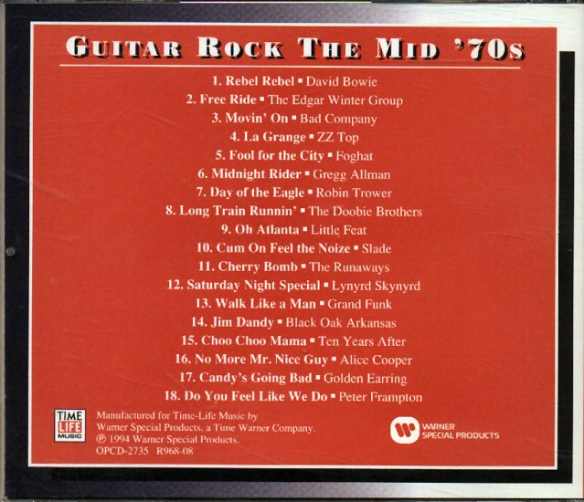 GUIITAR ROCK - MID-'70s - TIME-LIFE CD #7363