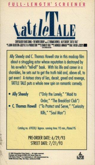 TATTLE TALE - VHS SCREENER! #2887