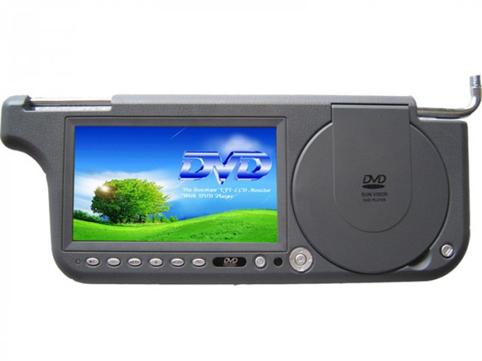 7- INCH SUN-VISOR TFT-LCD MONITOR WITHIN DVD PLayer