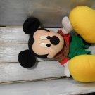 "Disney Mickey Mouse Christmas 19"" soft plush stuffed animal with bonus Mickey Theme Activity Book"