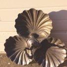 Vintage Silver Rotating Tray Platter ART NOUVEAU/ART DECO Sea Shell  Coronet