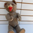 Antique Mohair Fetcher Teddy Bear Vintage with glass eyes Open mouth collectible