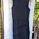 Women's Size S Swim Suit Full Body Wet Suit Black And Blue  With Pocket
