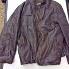 Kenneth Cole Leather Motorcycle Bomber Jacket _ L_Vintage_Brown_distressed