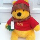 """Disney Winnie the Pooh Plush Stuffed Animal Christmas 15"""" Vintage"""