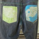 Mens CORGI jeans 42x35 big and tall pants Gold Eagle design