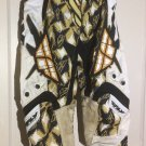 FLY RACING  KINETICS  MOTO/BMX PANTS WHT/BLK SIZE 28 S Leather Padded Knees